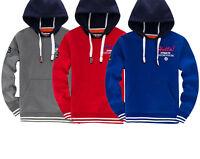 Mens Hoodie Sweatshirt Hooded Top Jacket Pullover Jumper Ebroidery Grey Blue Red