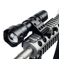 25MM Weaver Hunting Rifle Scope Rail Gun Mount Tactical Flashlight Laser T20