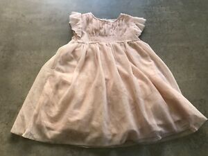 NEXT Girls Age 18 - 24 Months Pink Glitter Dress - Excellent Condition