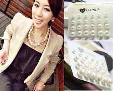 12 Pairs Cruncher Fashion White Pearl Earrings New Women Ear Stud Beads Jewelry