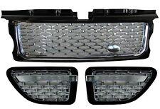 RANGE Rover Sport Griglia + Side Vent AUTOBIOGRAFIA DI CONVERSIONE KIT NERO + CROMATO NUOVO