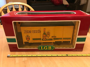 LGB G Scale Gauge Train 40262 Becks Bier Beer Loscht Kenner Car w/Original Box