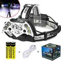 500000Lumen Garberiel 11x T6 LED Headlamp USB Rechargeable 18650 Headlight Torch