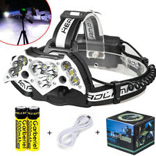 Garberiel 200000LM 11x T6 LED Headlamp USB Rechargeable 18650 Headlight Torch US
