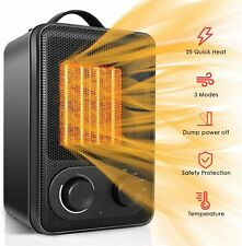 Space Heater, Portable Electric Ceramic Heaters for Office Indoor Use with Adjus