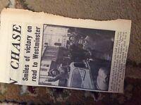 m12h ephemera 1950 picture general election lady megan lloyd george llangefni