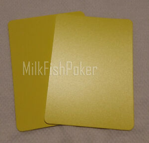 1 to 10 Poker Size Cut Cards - Yellow 100% Plastic