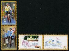 Bicycles 2 se-tenant pairs mnh 2016 Thailand Crown Prince birthday