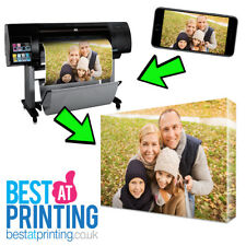 """A3 CANVAS PRINT 12"""" x 16"""" Personalised Your PHOTO, PICTURE - 18mm Box Frame"""