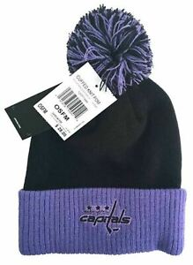 adidas Washington Capitals Hockey Fights Cancer Pom Knit Hat