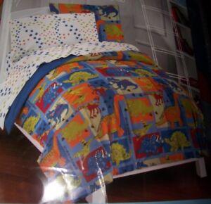 NEW Dream Factory Full Size DINOSAUR Theme Comforter Set ~Sheets Sham Pillowcase