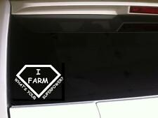 "Farm Superpower vinyl window sticker decal 6"" *F95 Farming Farmer Tractor Love"