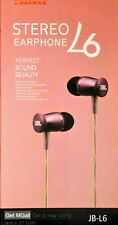 JBL JB-L6 PERFECT SOUND WIRED HANDS FREE EARPHONES WITH MIC AND 1 BUTTON CONTROL