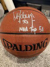 David Robinson Signed NBA Indoor/Outdoor - Schwartz Sports Inscribed Top 50
