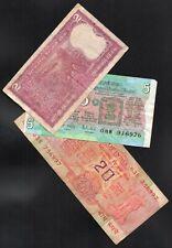 INDE , INDIA , 3 Billets 2,5 et 20 Ruppees ; circulés.  / L56