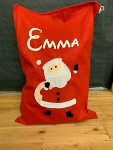 personalised father christmas xmas santa sack large stocking JUMBO SACK