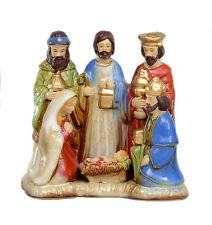 Natività FIGURINA (COLORATA) in ceramica smaltata NUOVO 27157