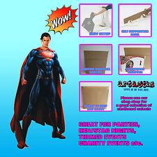El Hombre de Acero (Superman) Lifesize cartón recorte pie levantado Henry reparos