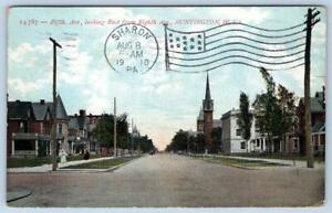 1910 HUNTINGTON WEST VIRGINIA*WV*FIFTH AVENUE EAST FROM EIGHTH AVE*POSTCARD