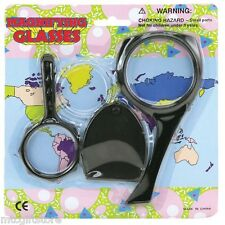 3 pc Kids Magnifying Glass Set -  Science Lab Teachers Aid - Mr Wizard # 03026