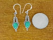 V15-5 Gorgeous Sterling Silver Tibetan Eearing with stone Hand Crafted In Nepal