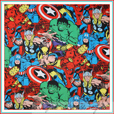 BonEful Fabric BTY Cotton Quilt Super Hero Marvel Captain America Hulk Comic Boy