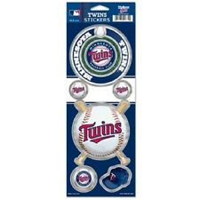 Minnesota Twins Large 5 Pack Prismatic Stickers [NEW] MLB Car Sticker CDG