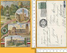 Trento Italiana - Vedutine: Pal.zo Pretorio Castello Cattedrale Monumento- 25360