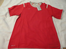 NIKE MEN'S NEW RED AND GRAY REVERSIBLE SHORT SLEEVE ATHLETIC TOP SIZE MEDIUM