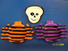 "Halloween Party Supplies Carnival 4"" Mini Plastic Snack Tray Assortment - 3 pc."