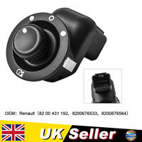 Electric Wing Mirror Adjust Knob Control Switch Fit for Renault Megane Clio UK