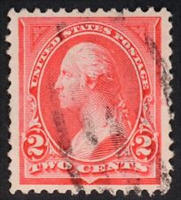 U.S. Used #265 2c Carmine Type I, XF Jumbo. Face-Free Cancel.  A Gem!
