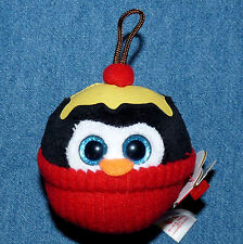 TY baby beanies ornament - Gelato the Penguin Ice Cream Sundae - Christmas NWT