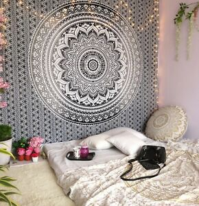 Mandala Tapestry Indian Wall Hanging Bohemian Hippie Queen Art Deco Tapestries