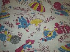 Vintage flour/seed sack fabric-music & dancing