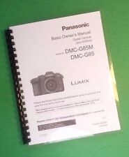 Laser 8.5X11 Panasonic Dmc-G85 Basic Lumix Camera 80 Page Owners Manual Guide