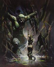 EARTHS CORE Frank Frazetta Vintage Art 1968 GGA Snake Demon Monster Nude Devil