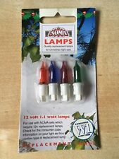 NOMA 12V 1.1w Christmas Bulbs For 20 Light Sets - 4 Pack W1 - Vintage Style