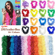 BOA Feather Strip 2M Boa Fluffy Craft Costume Dress Up Wedding Home Party Decor