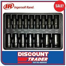 "Ingersoll Rand 16Pc 1/2"" Drive 6 Point Metric Deep Impact Socket Set SK4M16LA"