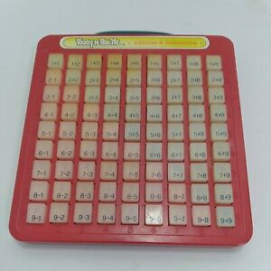 VINTAGE Touch 'N Tell Me Add Subtract Math Keyboard Galoob 1981 with Handle