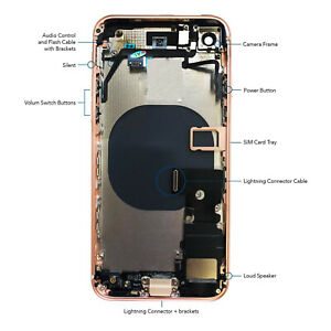 Housing Replacement With Full Assembly, Back Glass For iPhone 8, iPhone 8 Plus