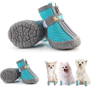 4Pcs Pet Dog Boots Puppy Shoes Protective Socks Anti-slip for Small Medium Dog