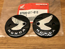 Honda CZ100 Tank Badges . C110. Genuine Honda Pressed Alloy Type.