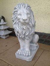 1 x Steinfigur Löwe Tierfiguren Steinkunst Gartenfiguren Löwen BLACKFORM