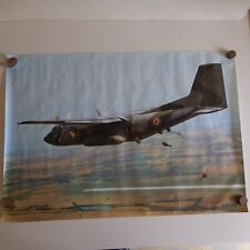 Poster avion militaire TRANSAL military aircraft F DUJARDIN Gramont France