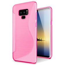 For Samsung Galaxy Note 9 Note 8 Soft S Line Gel TPU Silicone Case Skin Cover