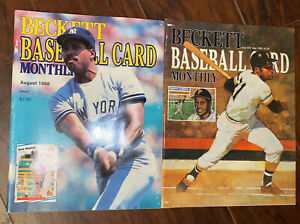 Beckett Baseball Card Monthly (Aug 1988 And May 1989). Lot Of 2