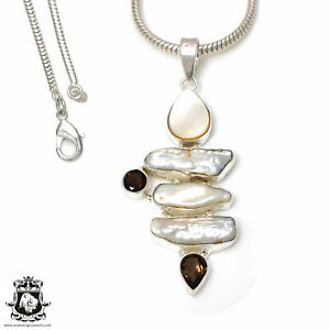 Pearl Pendant 4mm Snake Chain P7606