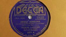 Frances Langford - 78rpm single 10-inch – Decca #1577 Sweet Someone